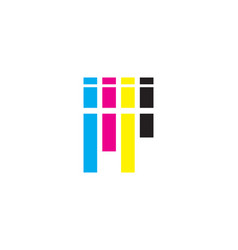 printing logo vector image