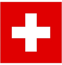 Swiss flag vector