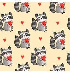 Cartoon raccoon in vector image vector image