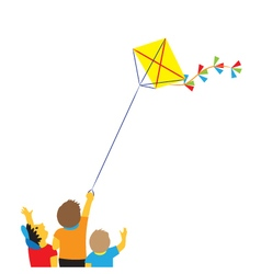 Children with a kite vector image
