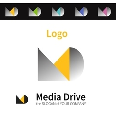 Colorful logo identity for company vector