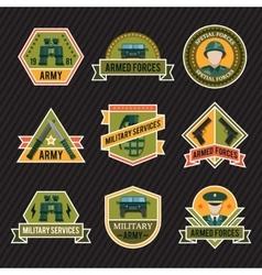 Flat Army Emblem Set vector image vector image