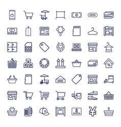 49 store icons vector