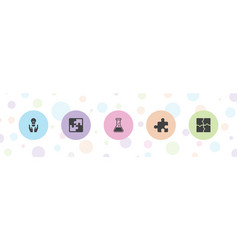 5 solution icons vector