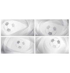 Abstract soccer backgrounds vector