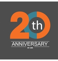 Anniversary icon with abstract elements vector