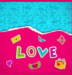 Beautiful love poster vector