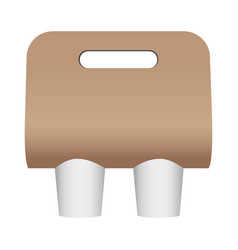Blank coffee cup carrier vector