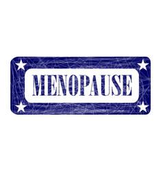 Blue ink stamp menopause vector
