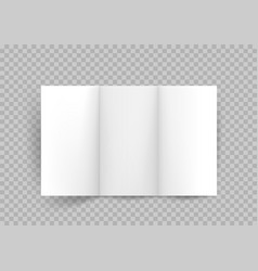 booklet three paper sheets vector image
