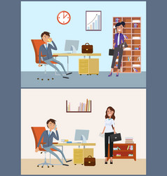 business appointment client and director in vector image