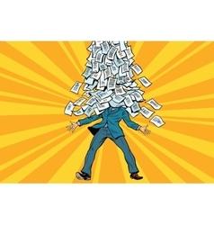 businessman and bureaucracy a mountain of vector image