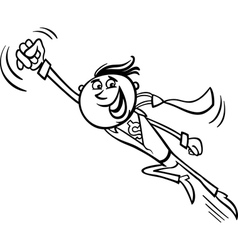Businessman superhero cartoon vector