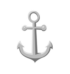 Cartoon style ship anchor vector