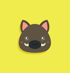 cartoon wild boar face vector image