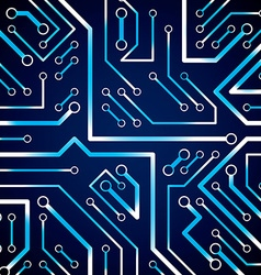 Circuit board futuristic cybernetic texture with vector image