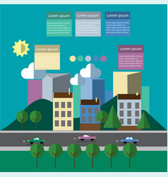 city bannner colorful infographics vector image