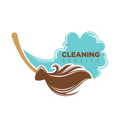Cleaning service emblem vector