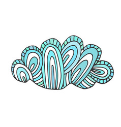 cloud doodle sticker design vector image
