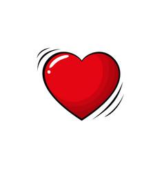 Colorful pop art retro heart comic style vector