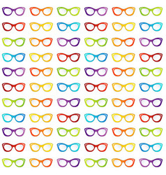 Colorful summer vintage eyewear goggles in cat vector