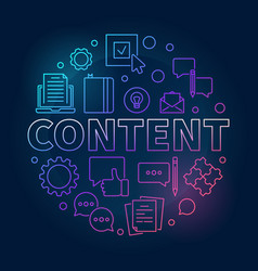 content round outline colorful modern vector image