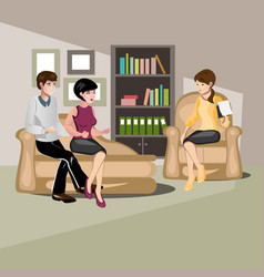 couple at the psychologist vector image