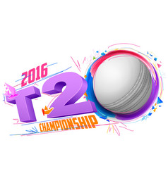 Cricket ball for T20 Cricket Championship vector