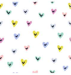 cute hearts seamless pattern love print for vector image