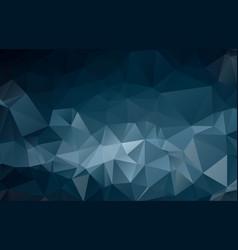 dark blue shining triangular template creative in vector image