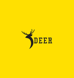 Deer logo icon template design vector