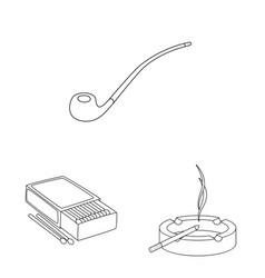 Design health and nicotine symbol vector
