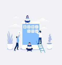 development mobile apps concept vector image
