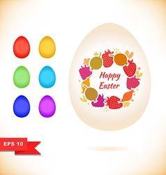 Easter egg designs vector