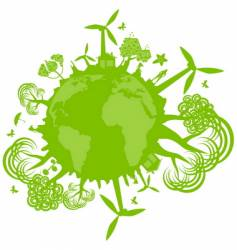 environmental concept vector image vector image