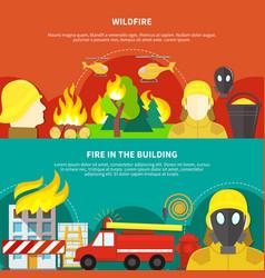 Firefighting banners set vector