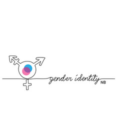 gender identity sign nonbinary ennb vector image