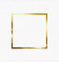 gold shiny frame vector image