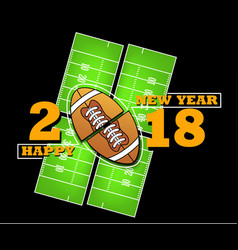 Happy new year and football vector