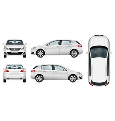 Hatchback car template on white background vector