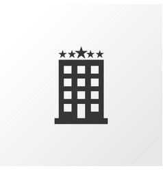 Hotel icon symbol premium quality isolated vector