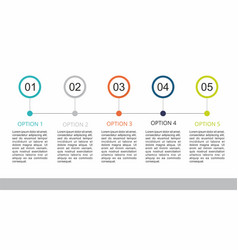 Infographic template with a five steps business vector