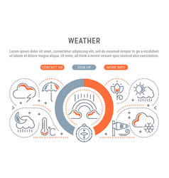 linear banner weather vector image