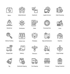 Logistics delivery icons vector