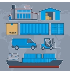 Logistics delivery warehouse info graphic vector