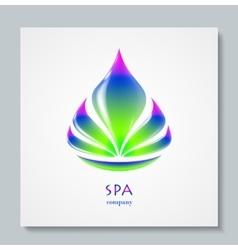 Luxury image logo Rainbow Flower Business design vector image