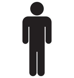 male bathroom icon vector image