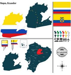 Map of napo ecuador vector