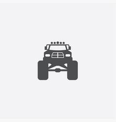 Monster car icon vector