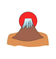 mount fuji icon vector image